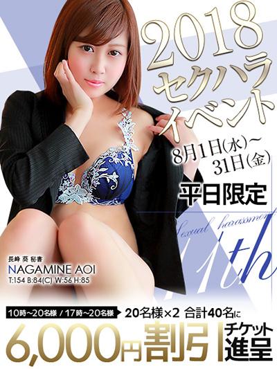 8月末まで平日限定の6,000円割引きチケット進呈!